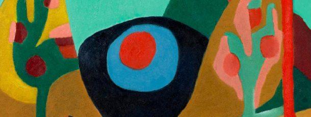 Blauer See – roter Kreis